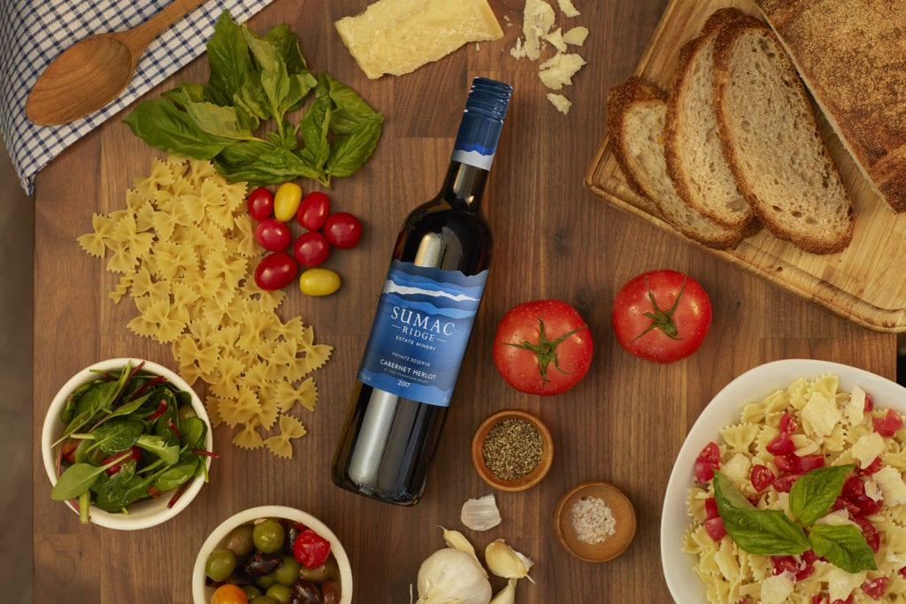Wine and charcuterie from Sumac Ridge Estate Winery